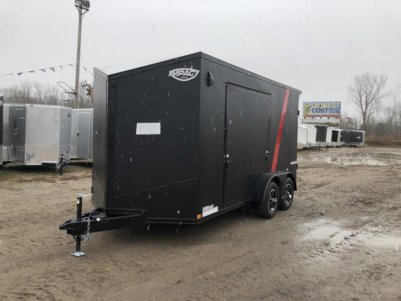 Impact Trailers 7x14 Shockwave Blackout UTV PKG Enclosed Cargo Trailer