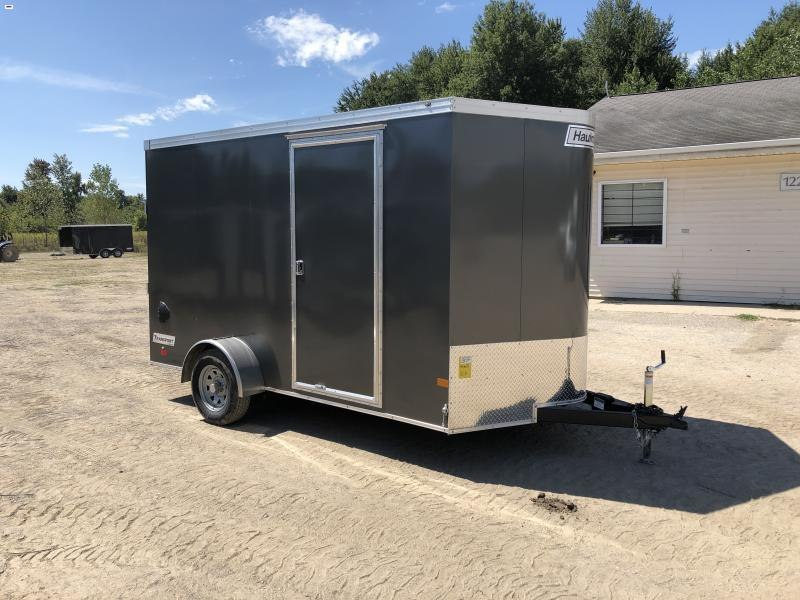 Haulmark Transport 7x12 V-Nose Charcoal Enclosed Cargo Trailer w/ 7ft Interior Height