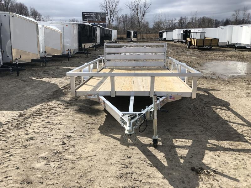 H and H 76x10 Aluminum Utility Trailer
