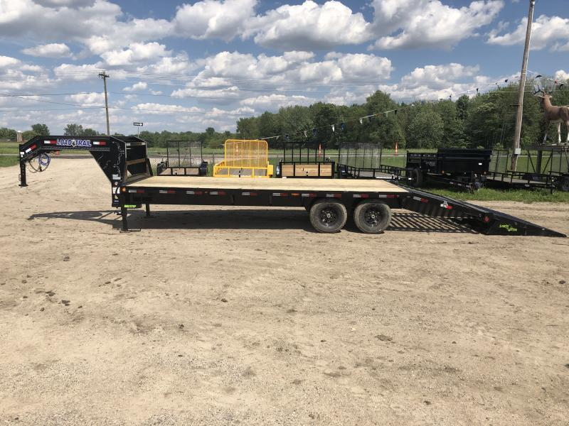 Load Trail 30' Deckover 14K Gooseneck Equipment Trailer W/ Max Ramps