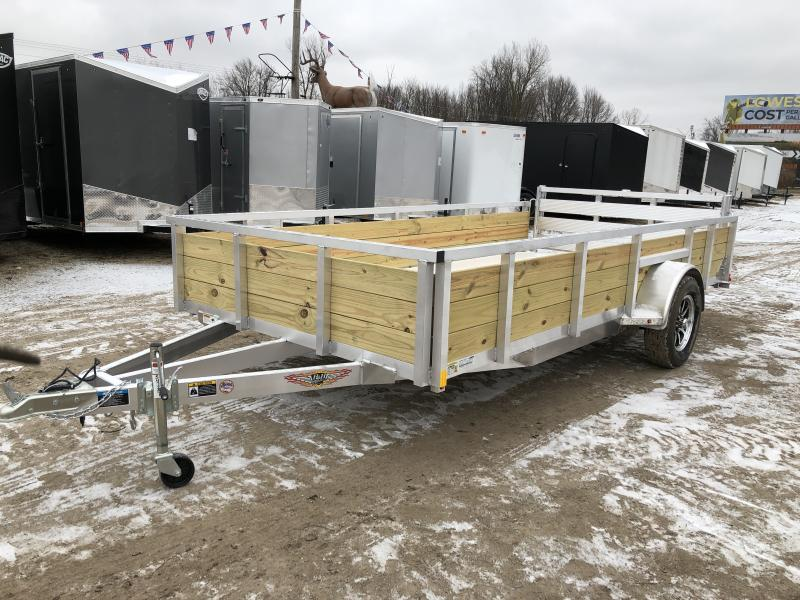 H and H Trailer 82X14 Aluminum Woodside