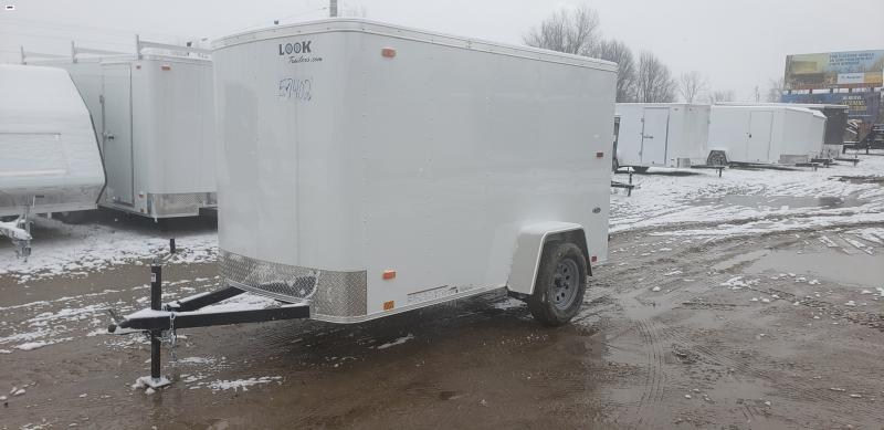 Look Trailers 5x10 Barn Door Enclosed  Trailer White
