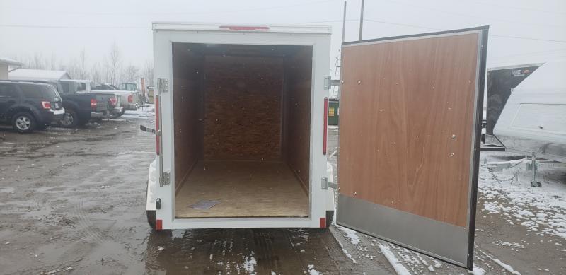 Look Trailers 5x10 Barn Door Enclosed  Trailer White