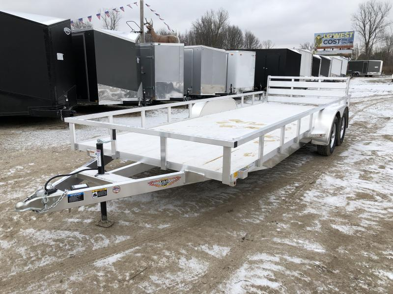 H and H 82x20 Tandem Axle Aluminum Utility Trailer