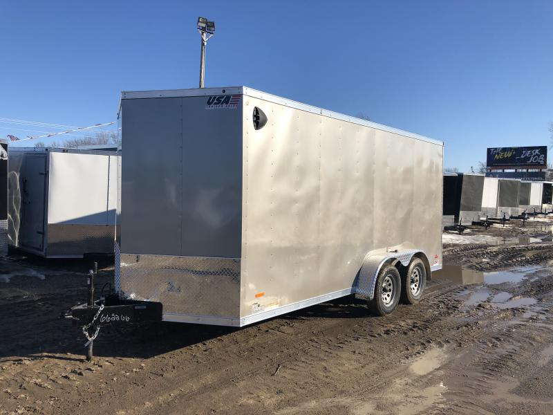 MTI Trailers MDLX 7x16TA Enclosed Cargo Trailer Pewter w/ 6ft 6in Interior Height