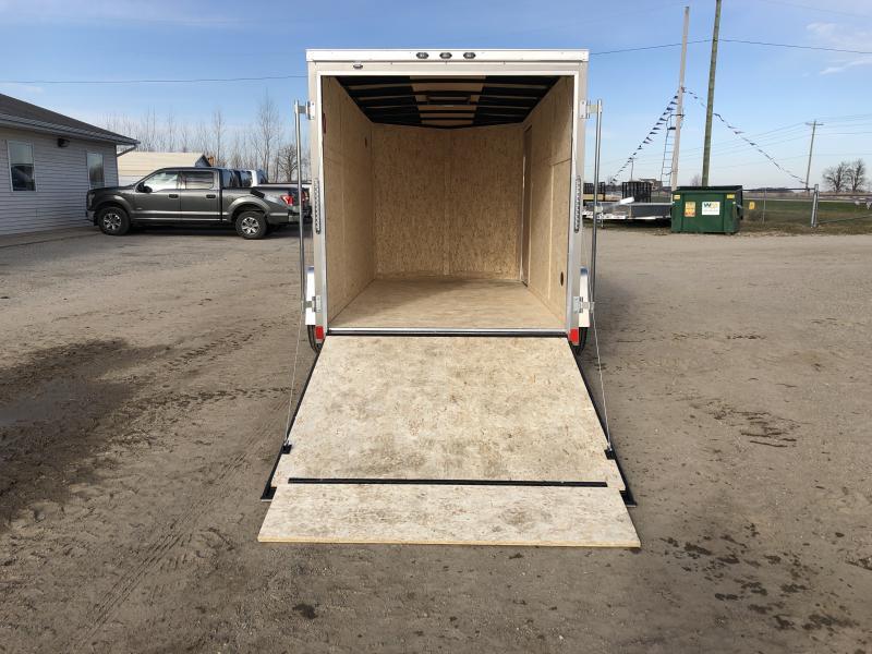 Rhino Trailers CUB 6x12 Pewter V-Nose Ramp Door Enclosed Cargo Trailer