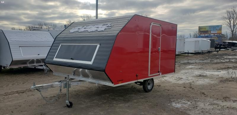 Lightning Trailers 8x11 Avalanche Snowmobile Trailer Red