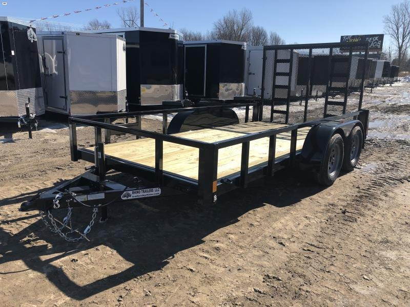 Rhino 83x14 HD Tandem Axle 2-Brake Landscape Trailer