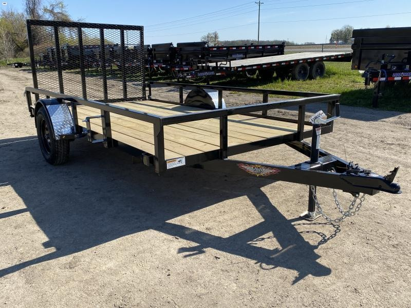H and H 76x12 Landscape Utility Trailer