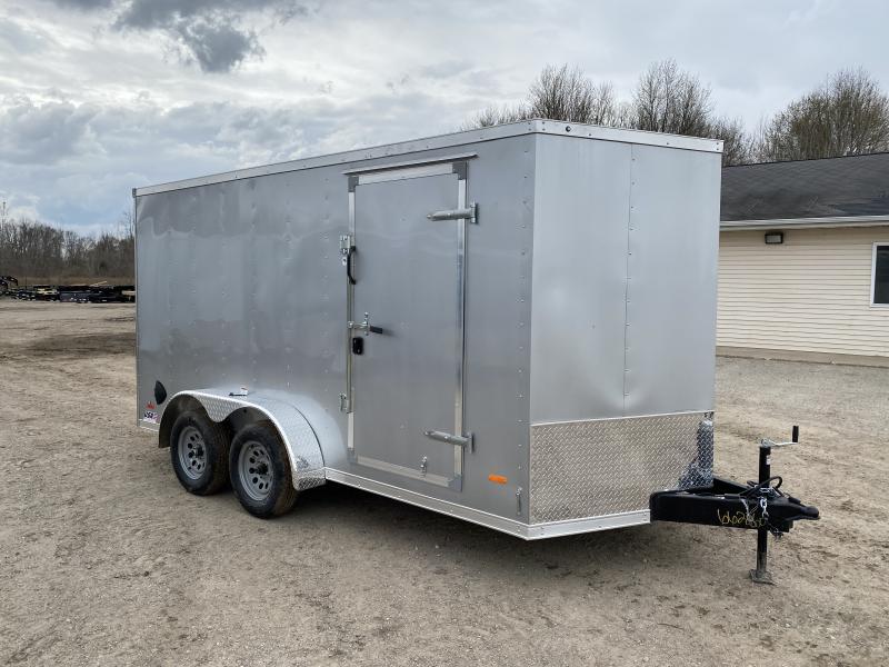 MTI Trailers MDLX 7x14TA Enclosed Cargo Trailer Silver w/ 6ft 6in Interior Height