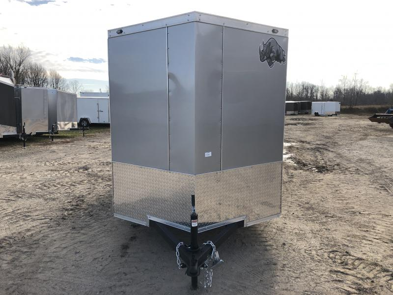 Rhino Trailers CUB 6x12 White V-Nose Ramp Door Enclosed Cargo Trailer