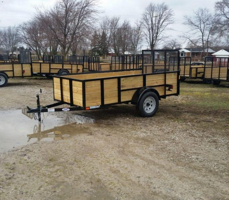 A.M.O. 5 x 10 High Side Landscape Trailer