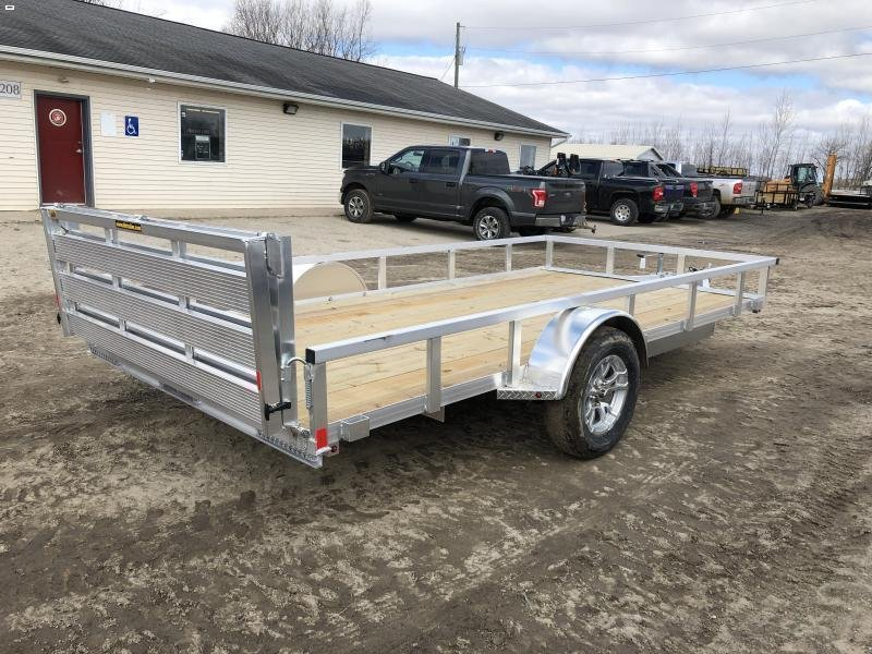 H and H 82x14 Aluminum Utility Trailer