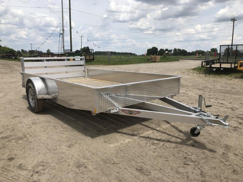 H and H 82X14 Solid Side Aluminum Utility Trailer