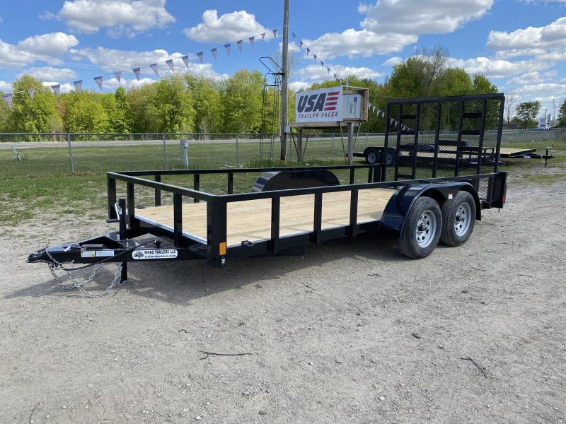 Rhino 83x16 HD Tandem Axle 2-Brake Landscape Trailer