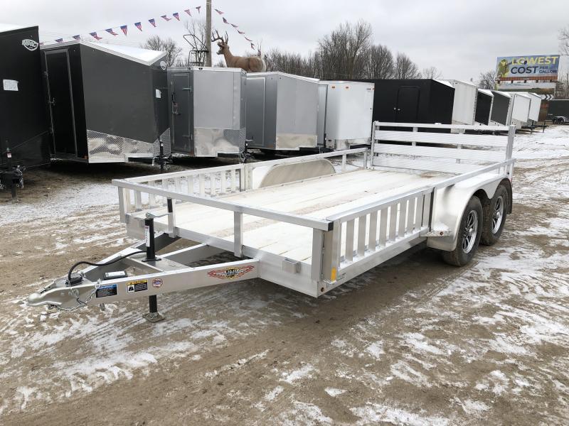H and H 82x14 Tandem Axle Aluminum ATV Utility Trailer