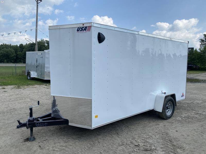 MTI Trailers MDLX 6x14SA Enclosed Cargo Trailer White w/ 6ft 6in Interior Height