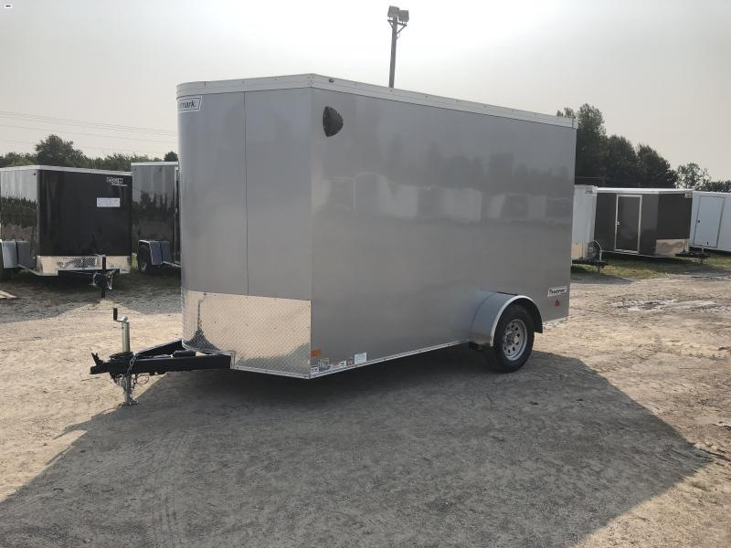Haulmark Transport 7x12 V-Nose Silver Enclosed Cargo Trailer w/ 7ft Interior Height