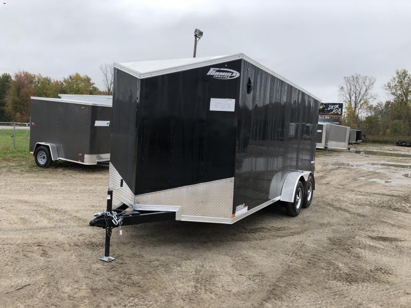 Tremor 7x16 Black V-Nose Ramp Enclosed Cargo Trailer w/ 6ft 6in Interior