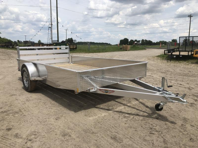 H and H 76x12 Solid Side Aluminum Utility Trailer