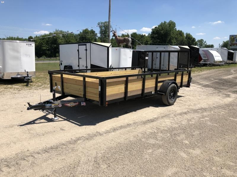 H and H Trailer 82x14 Woodside Utility Trailer