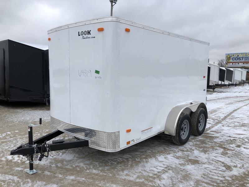 Look Trailers 6x12 Barn Door Enclosed Cargo Trailer White