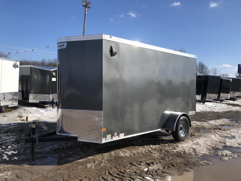 Haulmark Transport V- Nose 6x12 Ramp Door Enclosed Trailer Charcoal 6ft 6in Interior