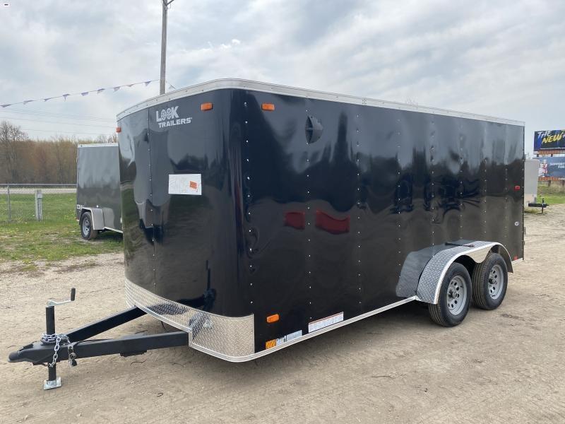 Look Trailers 7x16 Ramp Door Enclosed Cargo Trailer Black