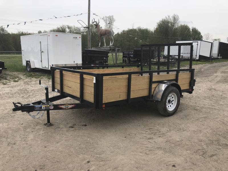 H and H 76x10 HD Woodsided Utility Trailer