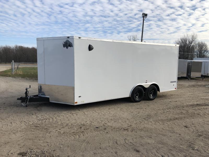 Rhino Trailers SAHARA 8.5x18 White V-Nose Car/Racing Trailer