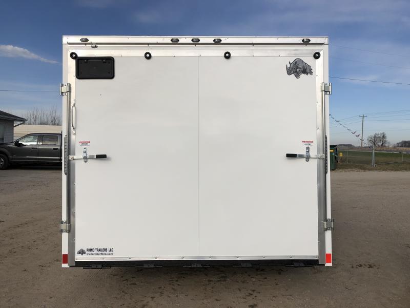 Rhino Trailers SAHARA 8.5x18 White V-Nose Car/Racing Trailer
