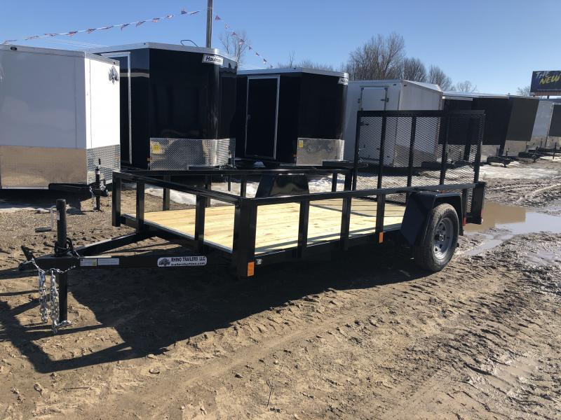 Rhino 6x12 HD Single Axle Landscape Trailer