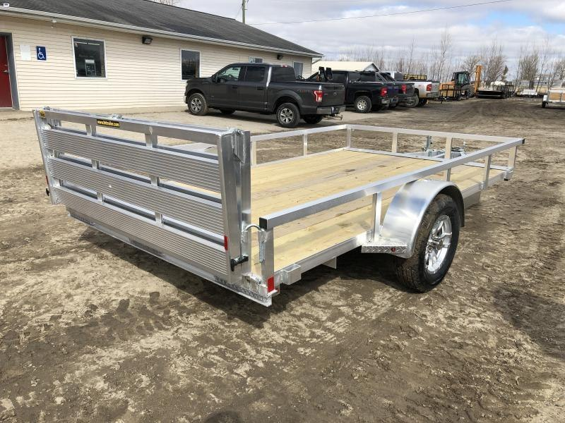 H and H 82x12 Aluminum Utility Trailer