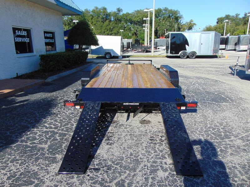 New Sure-Trac 7X24 (22+2) Wood Deck 10k Car Hauler