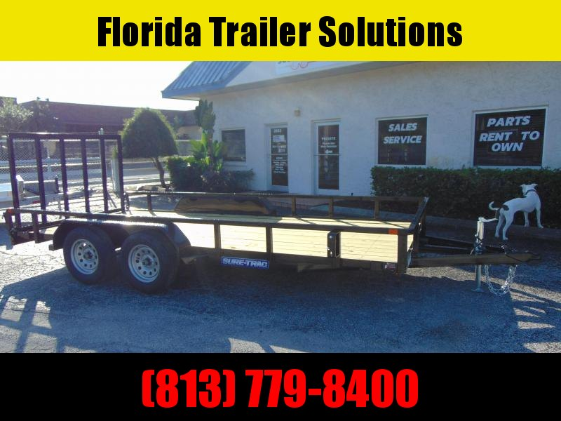 New Sure-Trac 7X16 7k Tandem Axle Utility Trailer