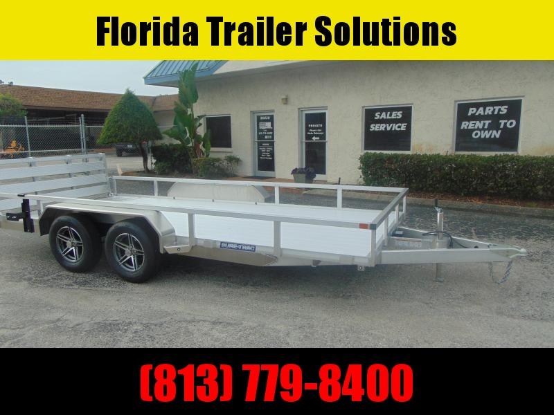 New Sure-Trac 7X16 Tandem Axle 7k Aluminum Utility Trailer