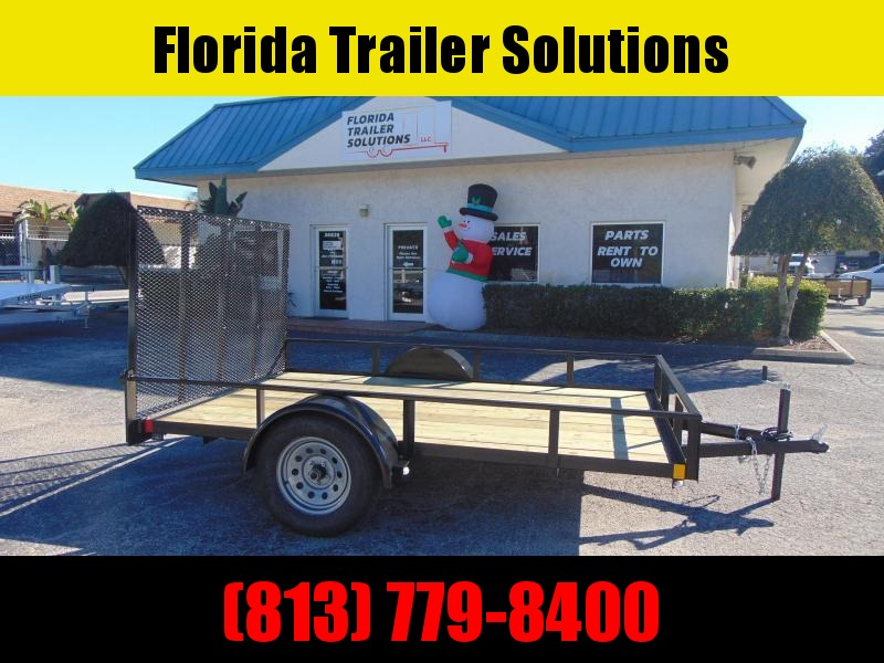 New Rhino Trailers 6X10SA Tube Top Utility Trailer