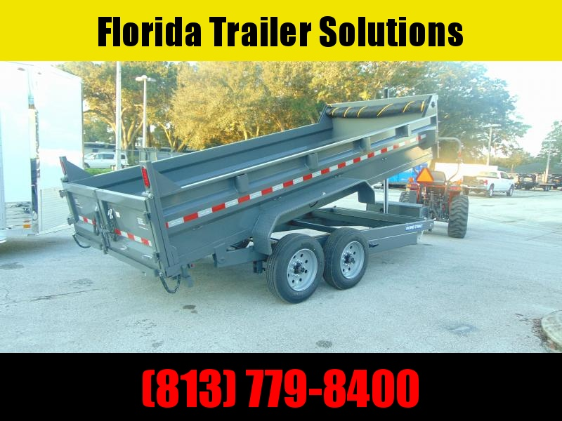 New Sure-Trac 82X16 16K Telescopic Dump Trailer w/Hydraulic Jack