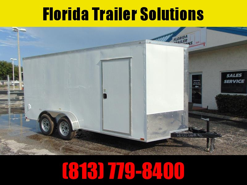 """New Quality Cargo 7X16TA Enclosed Cargo Trailer w/6"""" Addt'l Height"""