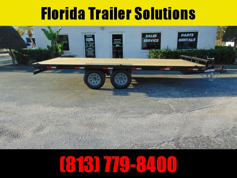 New Sure-Trac 8.5x16 Low Pro 10k Flatbed Deckover Equipment Trailer
