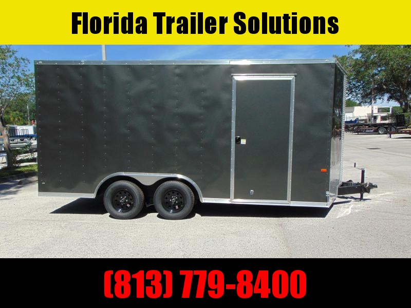 "New Rock Solid Cargo 8.5X16TA Car / Racing Trailer w/6"" Additional Height"
