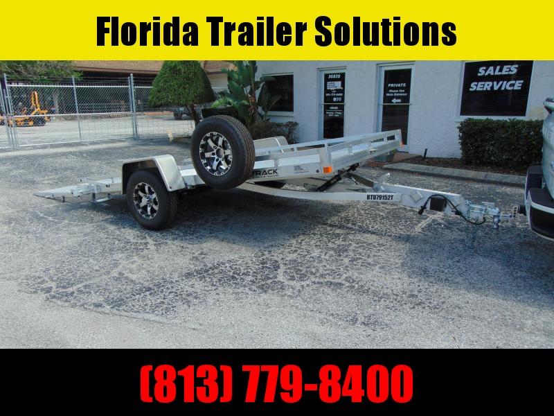 Pre-Owned 2021 Bear Track 79x152 All Aluminum Tilt Utility Trailer w/Slingshot Ramp
