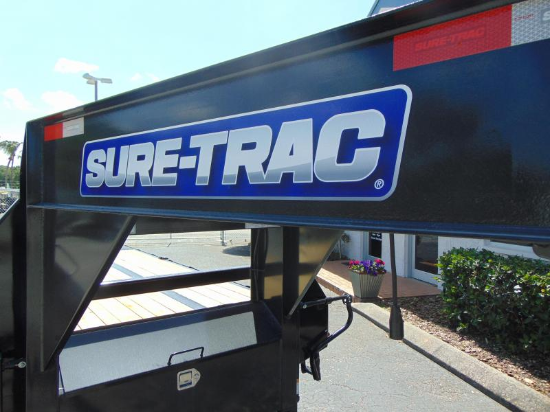 New Sure-Trac 8.5X20+5 HD LowPro Gooseneck Beavertail Deckover 22.5K Equipment Trailer