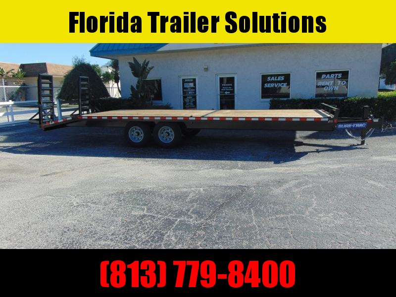 New Sure-Trac 8.5x22 +4 Standard Duty 15k Beavertail Deckover Equipment Trailer