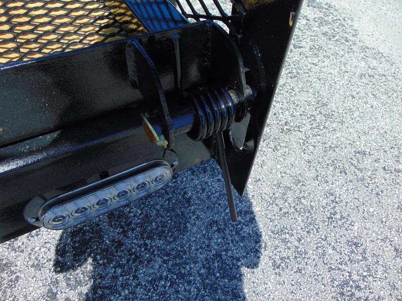 New Rhino Trailers 6X12 Tandem Axle Tube Top Utility Trailer w/ 2' Mesh Sidewalls