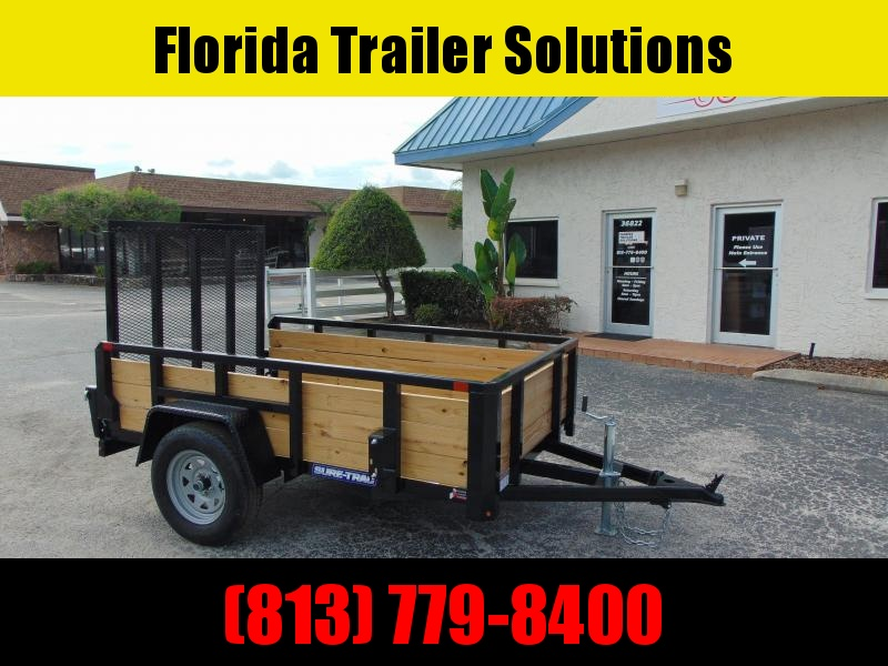 New Sure-Trac 5X8 Tube Top Three Board 3k Utility Trailer
