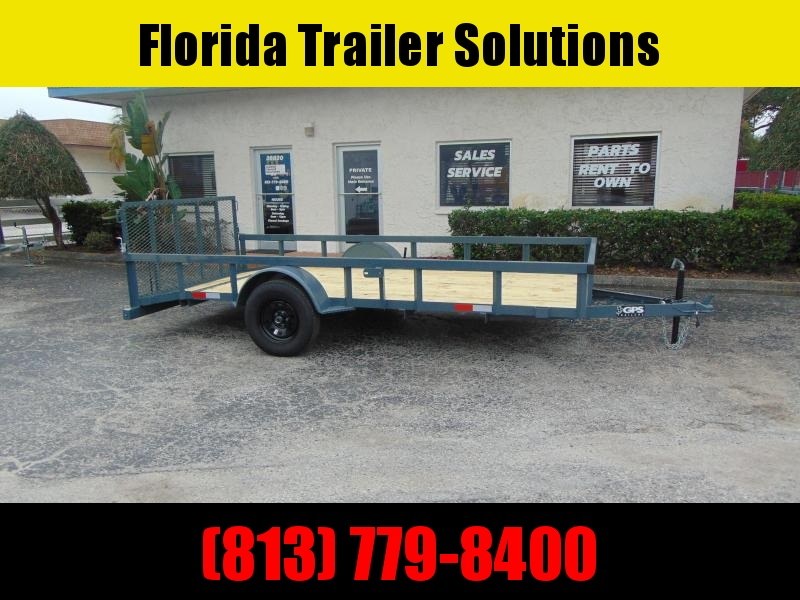 New GPS Trailers 6X14 Single Axle Utility Trailer