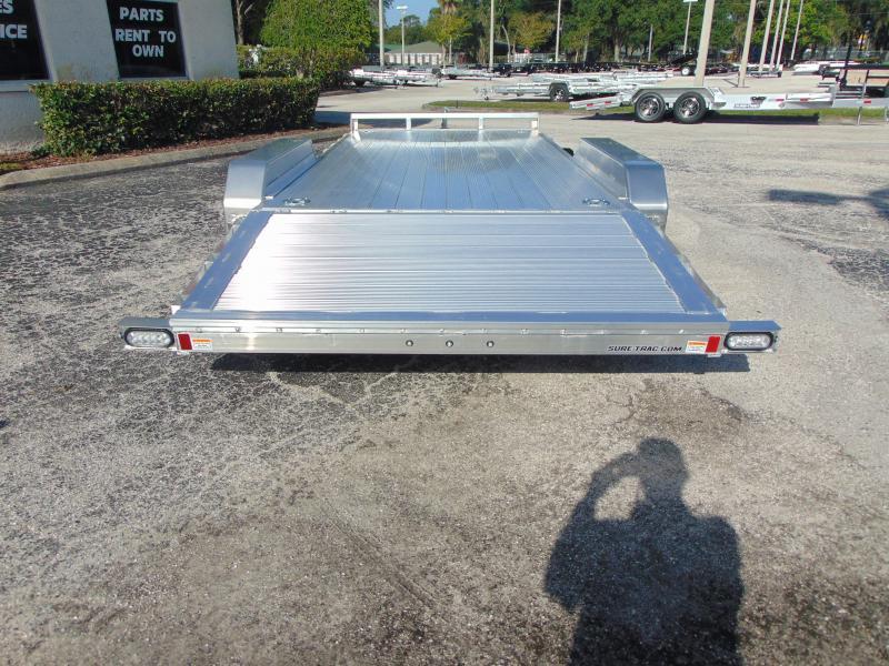 New Sure-Trac 7X18 (14+4) All Aluminum 7k Car Hauler
