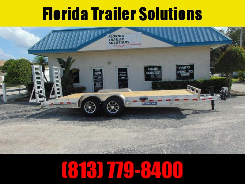 2021 Sure-Trac 7X18+2 Aluminum 14k Equipment Trailer