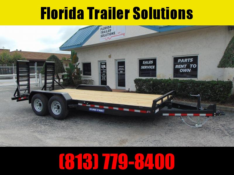 New Sure-Trac 7X18 (16+2) 14K Equipment Trailer